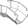 Increases the chute angle an additional 25 degrees.